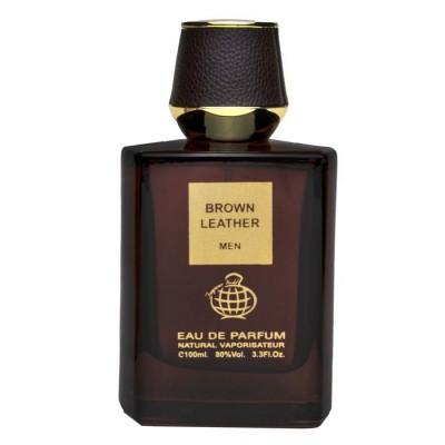 ادکلن مردانه فراگرنس ورد مدل براون لدر (Fragrance World Brown Leather 100ml)